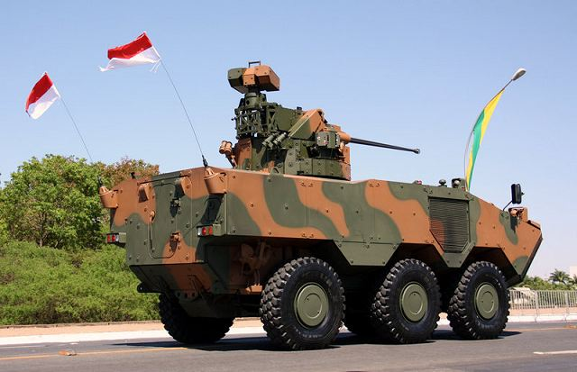 Brazil is pushing ahead its armored personnel carrier production program both to modernize its army and to create a new defense export market. Argentina is the first foreign customer to indicate interest in acquiring at least 14 of the six-wheel Guarani APC that Brazil is developing in a joint venture with Italy's Iveco S.p.A., which has headquarters in Turin.