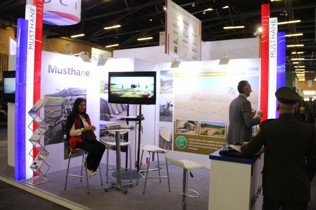 French company Musthane is presenting its smart Helicopter Landing Mat at Expodefensa 2015 640 001