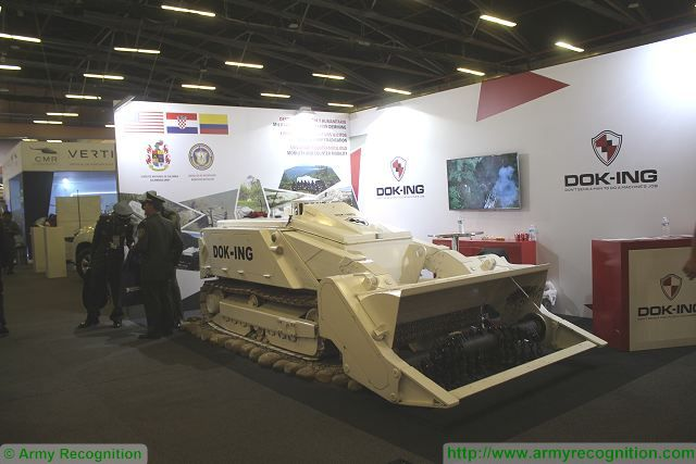 At Expodefensa 2015, DOK-ING showcases one of its more popular product the MV-4. The MV-4 is a Mine Clearance System designed and manufactured by DOK-ING a 100% privately owned Croatian company. During first period DOK-ING was actively engaged in demining activities and has gathered vast experience in different types of landmine clearance, on all types of terrain in the Republic of Croatia, as well as in the surrounding countries.