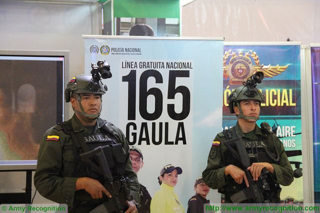 Police officer GAULA ExpoDefensa 2015 International Exhibition of Defense and Security in Colombia 640 001