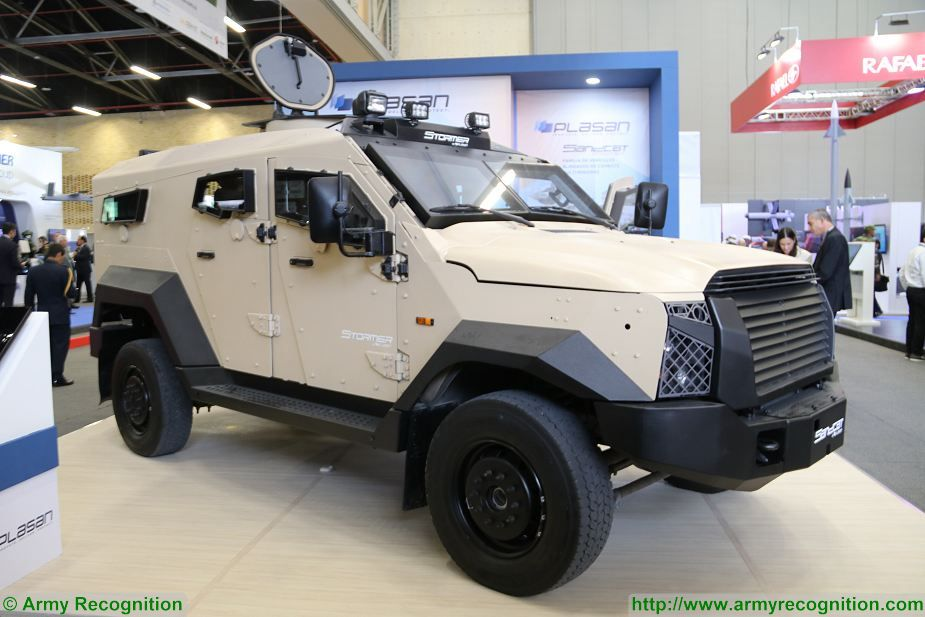 Plasan from Israel presents Sandcat Stormer 4x4 protected vehicle at ExpoDefensa 2017 925 001