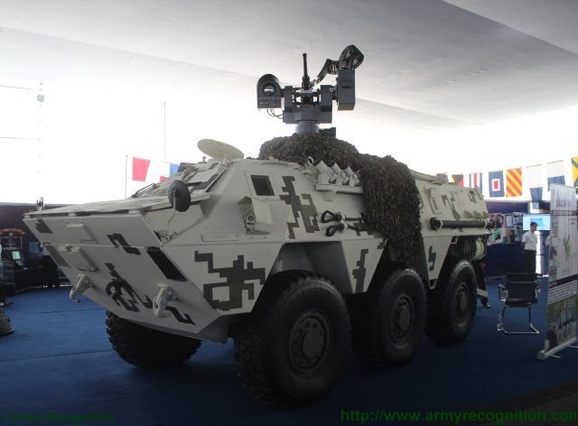 Peru unveils upgraded variant of the BMR 600 APC fitted with Guardian remote weapon statio 640 001