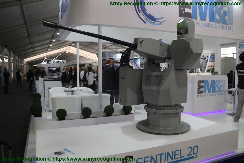 Escribano Sentinel 20 Naval RWS Remote Weapon Station for 20mm cannon Lima Peru SITDEF 2019 925 001