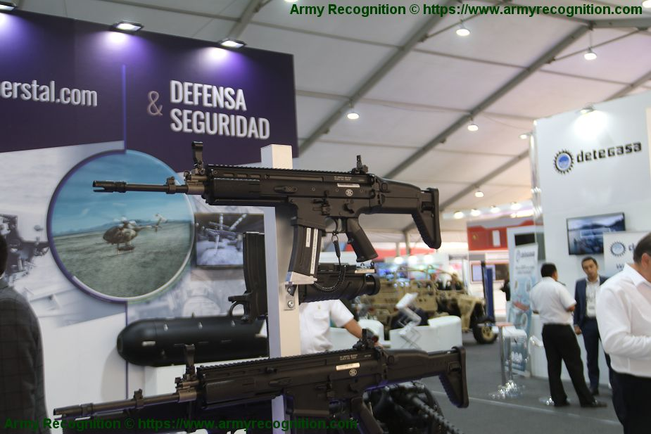 FN Herstal from Belgium exhibits its full range of military products Lima Peru SITDEF 2019 925 001