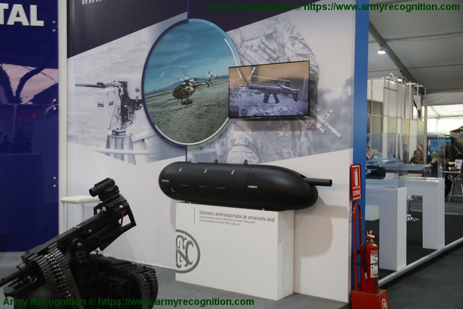 FN Herstal from Belgium exhibits its full range of military products Lima Peru SITDEF 2019 925 002