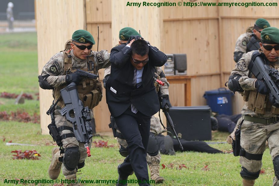 Peruvian Special Forces in live demonstration of counter terrorism operation SITDEF 2019 925 001