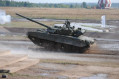 Russian T 80U MBT proceeded to a gunnery qualification test 640 001