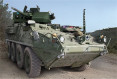 First test-fire of Dragoon 30mm cannon Stryker 8x8 armoured vehicle by US soldiers 640 001